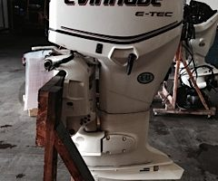 "Used 2010 Evinrude e-Tec 90 HP 25"" 139 HRS"