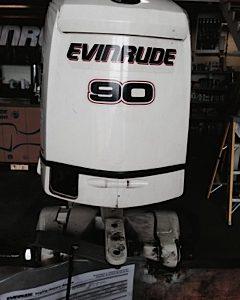 2010 Evinrude e-Tec 90 HP 25
