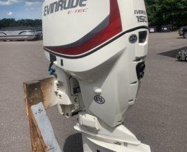 "2014 Evinrude e-Tec 150 HP 20"" White 191 HRS"